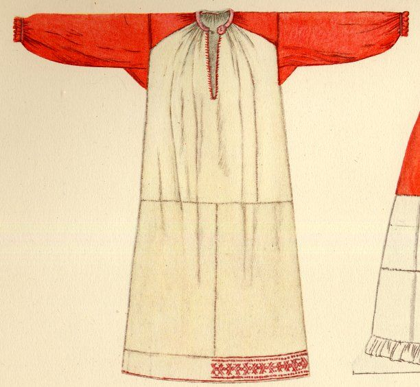 FolkCostume&Embroidery: South Russian Rubacha.