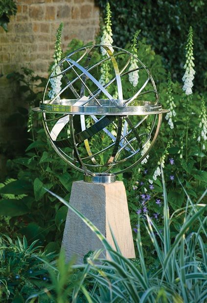 Armillary sphere sundials are ideal for classical gardens