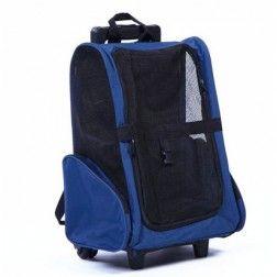 Transportín Para Gatos Arppe Trolley Rodder Azul