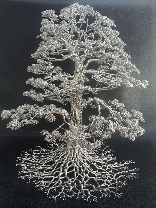 Деревья из проволоки от скульптура Клайва Мэддисона