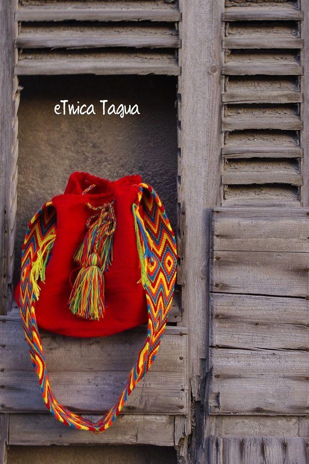 Mochila Wayuu Roja <3