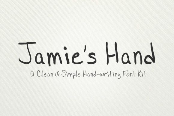 jamie u0026 39 s hand is a simple  easy to read  and very clean handwriting font