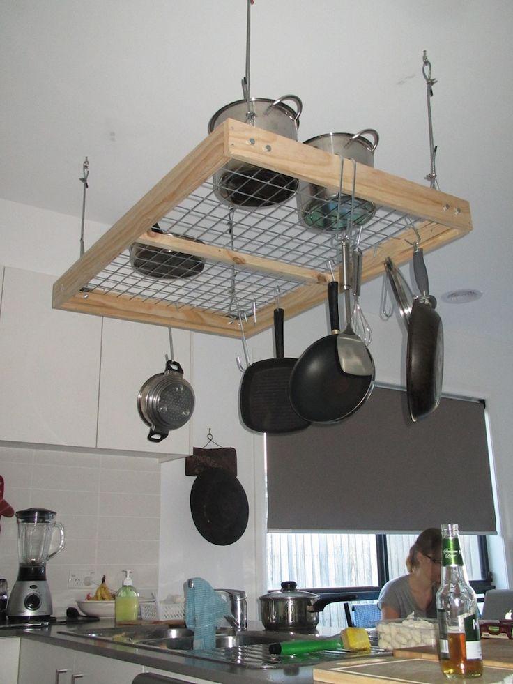 25 best ideas about pot racks on pinterest pot rack hanging pot rack and hanging pots kitchen. Black Bedroom Furniture Sets. Home Design Ideas