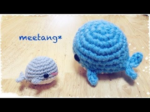 How to crochet a whale くじらの編み方 - YouTube