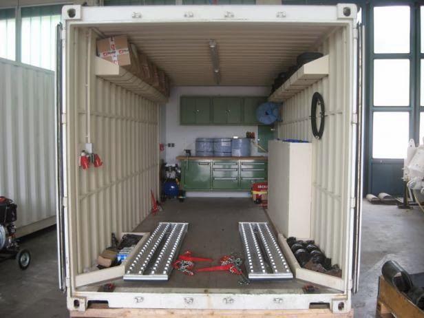 container oficina funcional e pr tico garagem pinterest contentores bancada e garagem. Black Bedroom Furniture Sets. Home Design Ideas