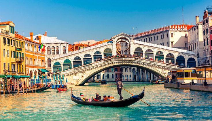 Voos de ida e volta para Veneza Roma e Milão a partir de R$ 1.584