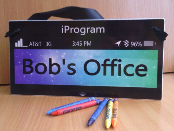 technology themed male teacher classroom door sign  by kasefazem, $15.99