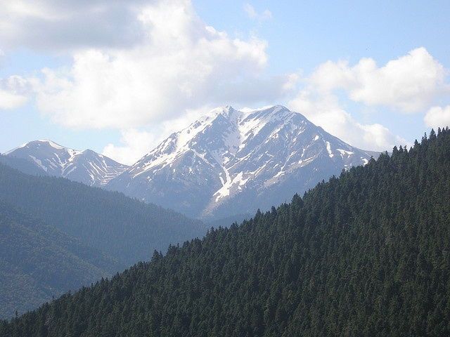 Another view of Mt. Kalliakouda (peak at 2101m) from Voutiro village outside Karpenisi
