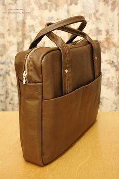Дома хозяюшка: Мужской кожаный портфель + МК для начинающих