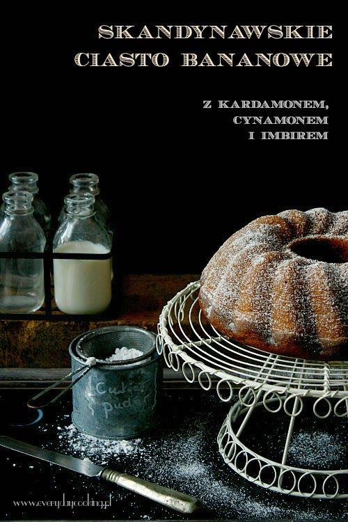Skandynawskie ciasto bananowe