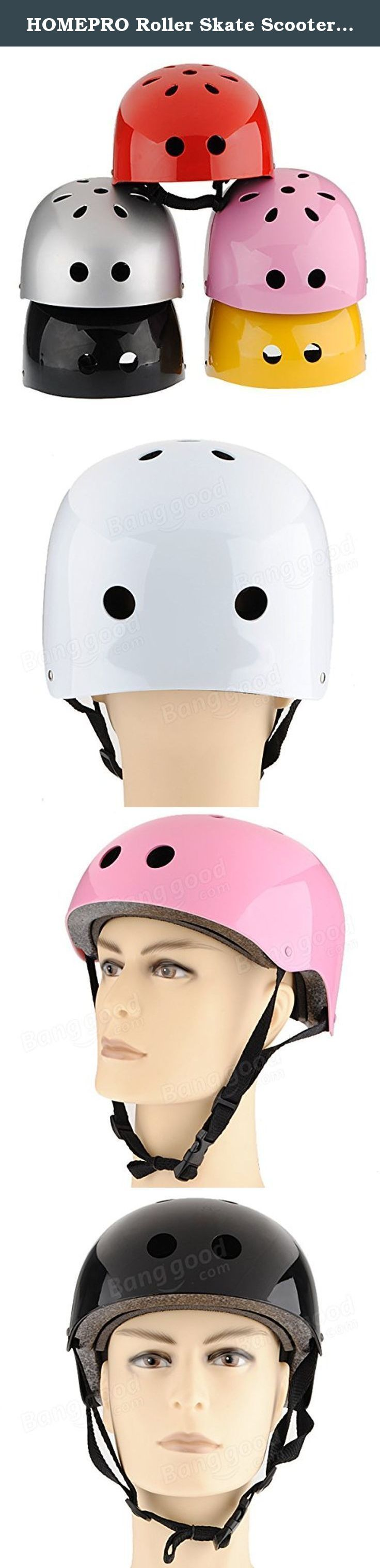 HOMEPRO Roller Skate Scooter Helmet Skateboard Skiing Cycling Helmet Size M ( Silver ). This list Size or Color : Silver Specifications: Type: Helmet Weight: 500g Outer Material: ABS Advanced Engineering Plastic (Plating) Mesochite Material: Black EPS (High-density Foam) Inner Material: High-density Foam Fabric (Soft and Comfortable) Size: M(fits for the people whose head size is under 58cm ) Color: Sliver, Black, White, Yellow, Pink Features: It is good for Pedal cyclist, skating, and...