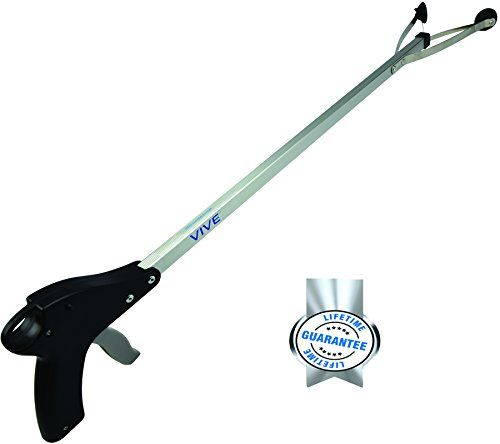 "VIVE Suction Cup Reacher Grabber - 32"" Extra Long Heavy Duty Mobility Aid - Mechanical Tool for Easy Lightbulb Remover, iPad Pick Up, Kitchen Shelves, Litter Picker, Trash / Garbage, Dishware, Garden Nabber, Long Handled Extender - LIFETIME GUARANTEE VIVE http://www.amazon.com/dp/B00O47ILVA/ref=cm_sw_r_pi_dp_2Rwjvb1JJFEZS"