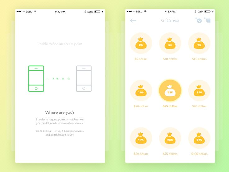 Pindeft - Mobile App (White ver.) by  Yaroslav Zaytsev 🐇