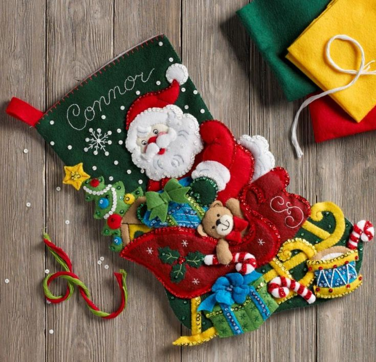 NEW 2018 Stocking kit from Bucilla called Santa's Sleigh. MerryStockings will have it on sale in March! Pre-order it online starting February 8th, 2018.