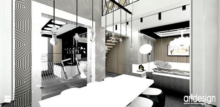 aranżacje nowoczesnych domów - zdjęcie od ARTDESIGN architektura wnętrz - Jadalnia - Styl Nowoczesny - ARTDESIGN architektura wnętrz