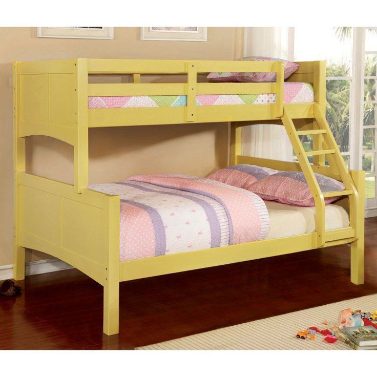 Furniture of America Barnes Twin Over Full Bunk Bed - IDF-BK608F-AG