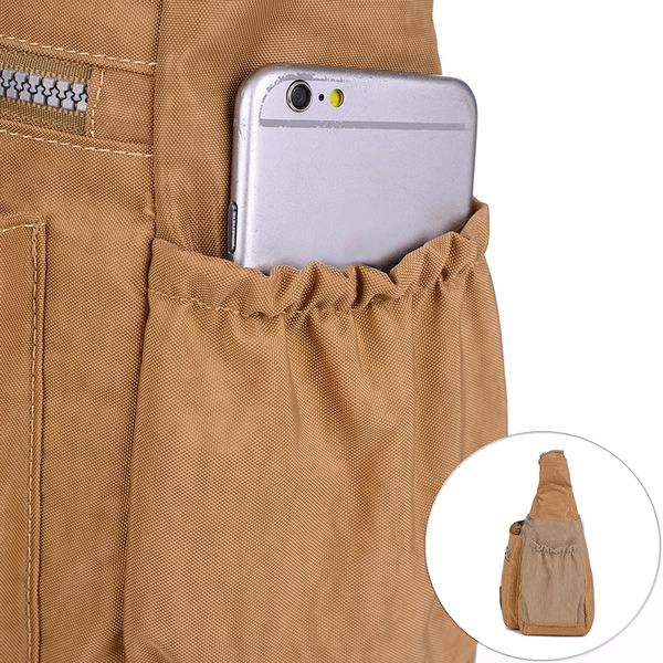 Jinqiaoer Multilayer Zipper Pockets Bags Ladies Casual Waterproof Shoulder Bags Outdoor Travel Crossbody Bags