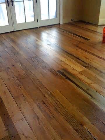 Reclaimed Barn Wood Flooring Ideas - via Imperfectly Polished