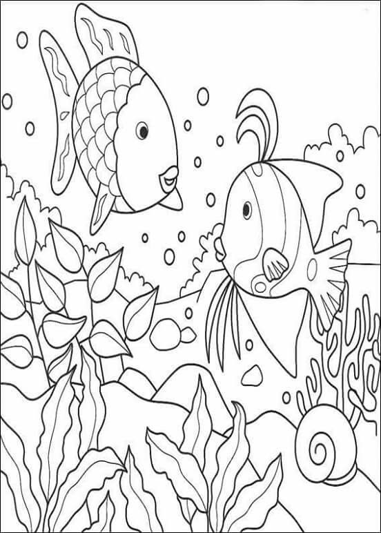 rainbow fish coloring pages childrens books rainbow fish - Fish Coloring Pages For Preschoolers
