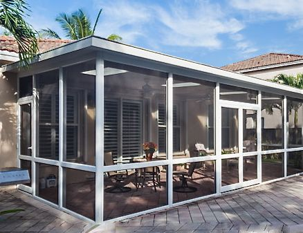 This Screen Enclosure Is Designed So That It Can Be Converted Later To A  Sunroom If