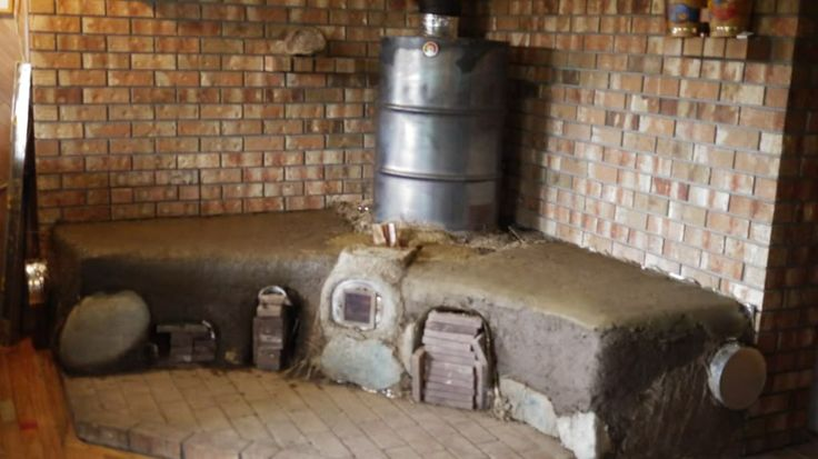 Thermal Mass Heater Rocket Stove Cordwood Pinterest