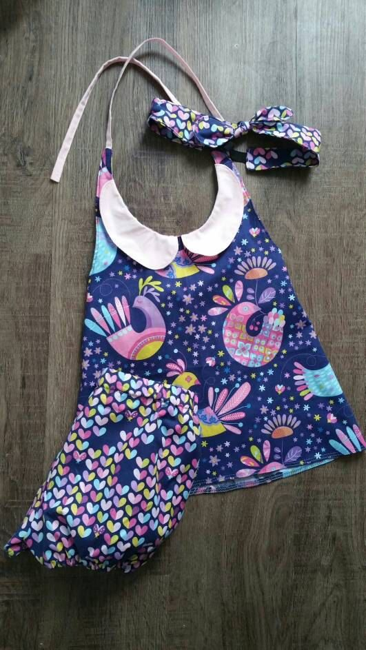 Check out this item in my Etsy shop https://www.etsy.com/ca/listing/289525119/a-line-halter-and-bloomer-set