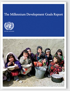 The Millennium Development Goals Report for Unicef designed by falcon ideas