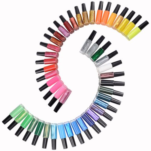 48tlg-Farbe-Fine-Liner-Nagellack-Nail-Polish-Nagellack-Set-10ml-je-Dose