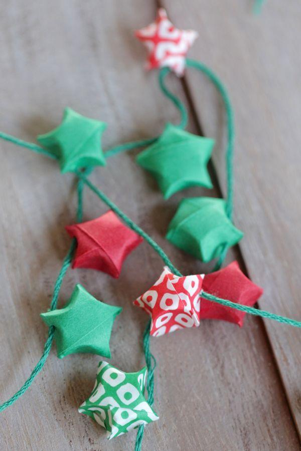 DIY: origami star garland