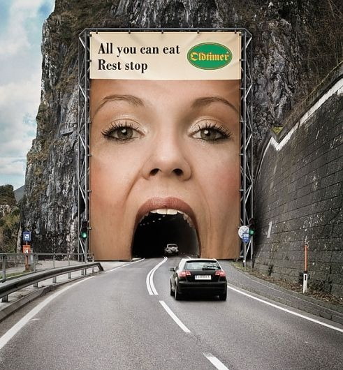 Creative Billboard Ad: I would laugh if I actually saw this