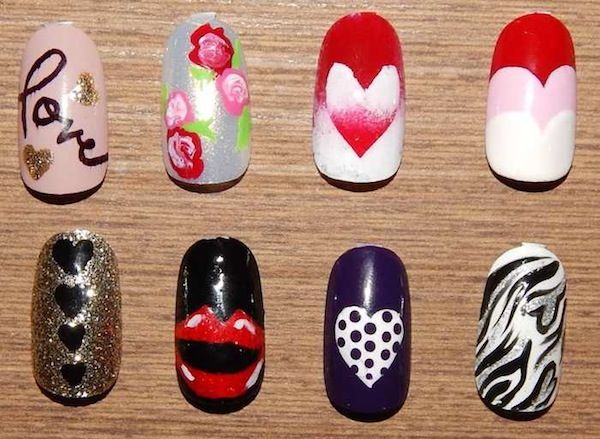 Valentines Day Nail Art! Credits: Michelle Silva, Milena Yared, Dominic Zingaro, Humber College nail students led by Jessica Marie Ellison