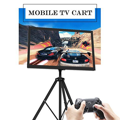 Portable TV Stand Plasma LCD TV Cart Mobile with Tripod Legs for 32 to 55 Flat Panel TV Height Adjustable * Check this awesome product by going to the link at the image.