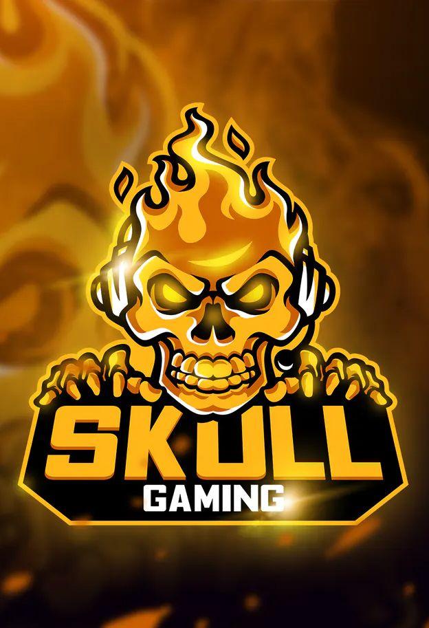 Skull Gaming Mascot Esport Logo Template Ai Eps Skull Game Logo Design Art Game Logo