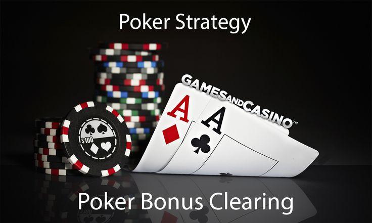 Poker Bonus Clearing http://www.gamesandcasino.com/poker-strategy/poker-bonus-clearing.htm #poker #bonus #strategy