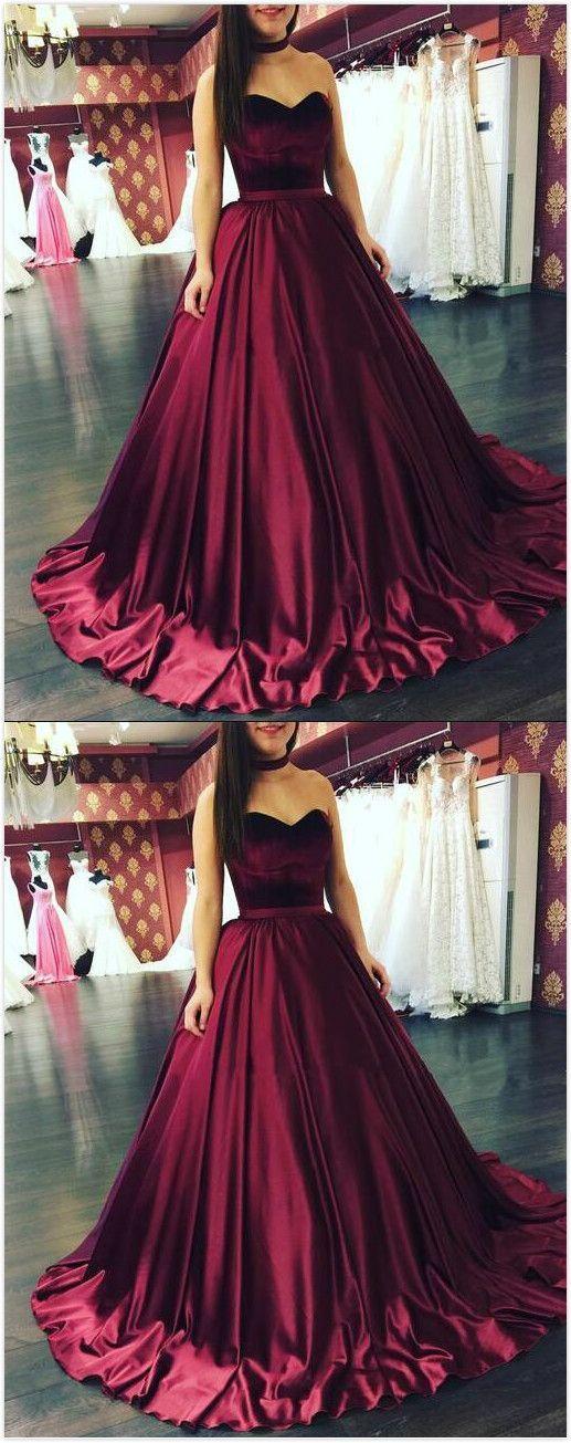 Sweetheart Prom Dress,Burgundy Prom Dresses, Long Prom Dress,Sexy Prom Dress, Burgundy Wedding Dresses,Ball gown Prom Dress
