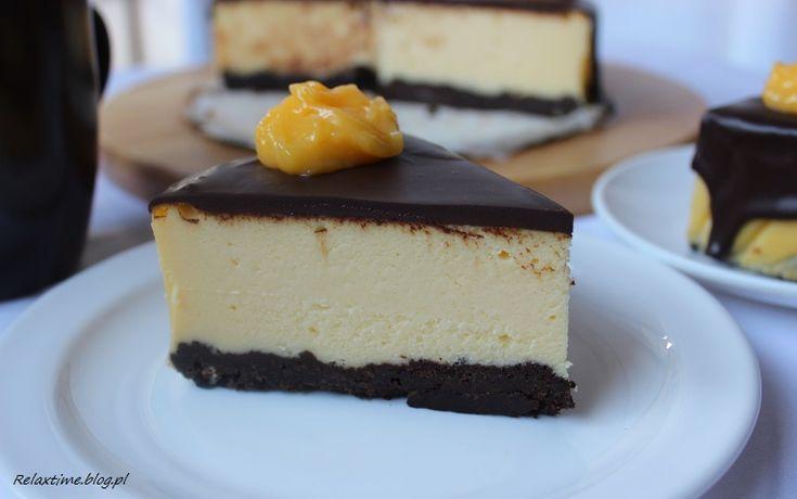 Sernik z białą czekoladą na spodzie brownie | Relax Time