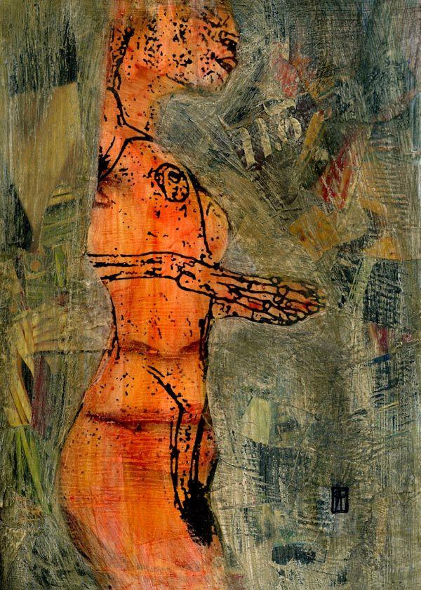 5-KARMA de ARTE. Egon IV.   Pintura mixta.   http://www.crisacqua.com
