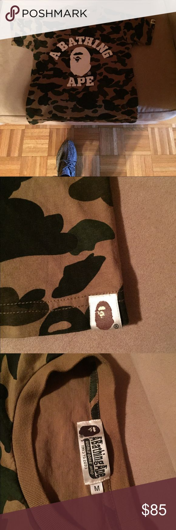 Bape T Shirt (M) Bape T-Shirt. Fits like a small. Never worn Supreme Shirts Tees - Short Sleeve