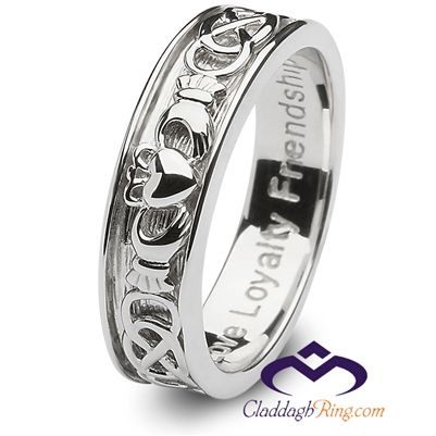 Mens Sterling Silver Claddagh Wedding Ring SM-SD9 for $80.00