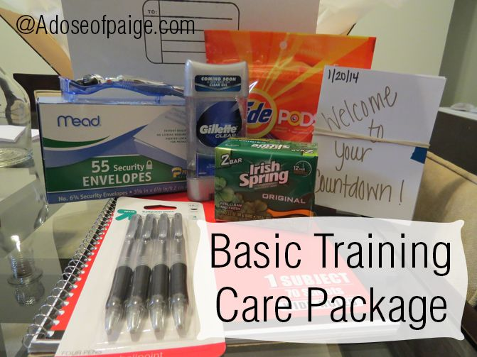 Basic Training Care Package (would be good for any type of training they are gone for long periods of time)