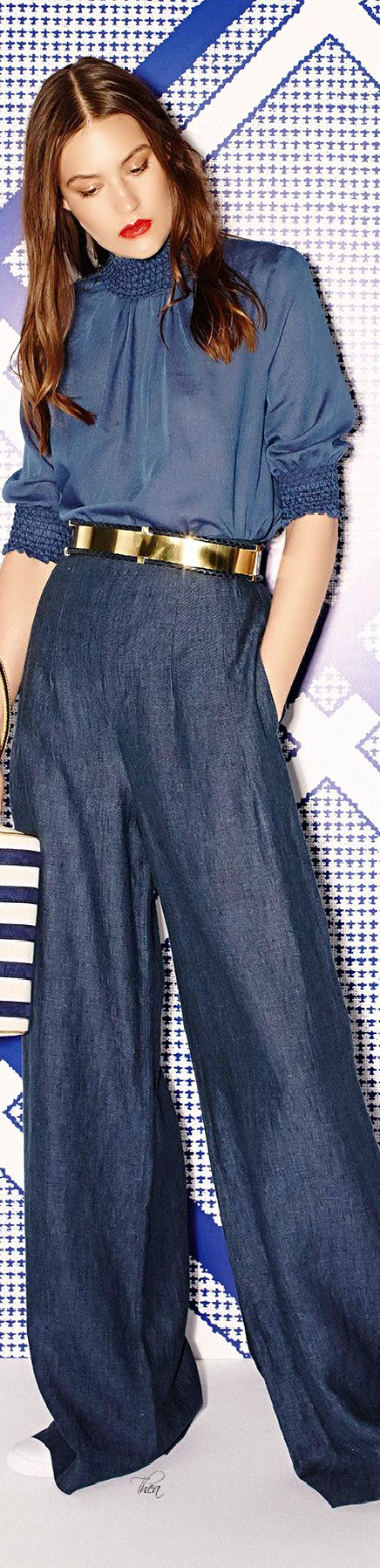 Sass Bide Resort 2015/soft denim.   Love the wide leg denim!