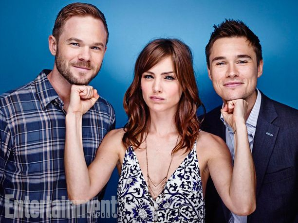 Shawn Ashmore, Jessica Stroup, and Sam Underwood, The Following. See more stunning star portraits from our photo studio at San Diego Comic-Con 2014 here: http://www.ew.com/ew/gallery/0,,20399642_20837151,00.html