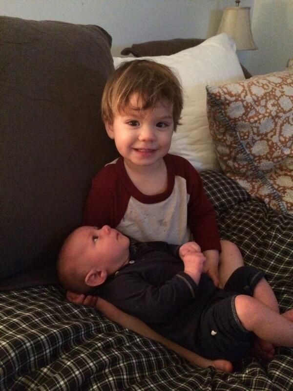 Jared tweeted a picture of his and Gen's adorable boys, Thomas and Shepherd.