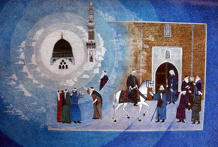 Mevlana ve Şemsin İlk Karşılaşması   Mevlana   Collections   Fine Islamic Arts   Şermin Ciddi