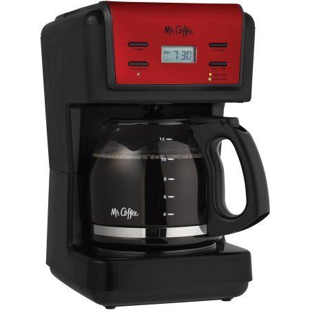 Mr. Coffee 12-Cup Red Programmable Coffee Maker with Brushed Stainless Accents >> Additional info  : Coffee Maker
