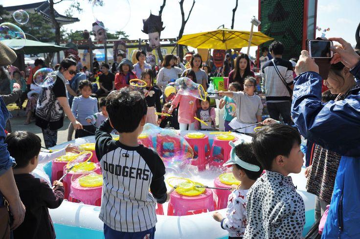 탈춤축제장_어린이_물풍선 체험(2014. 10. 3.)