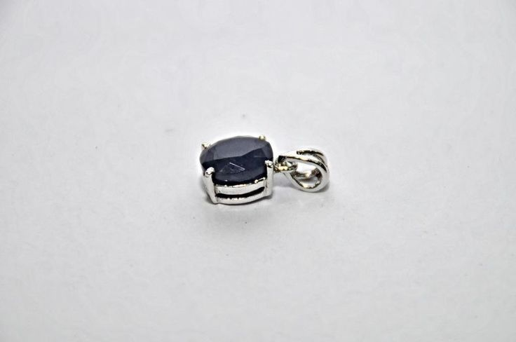 Rare! Natural! Dark Blue Sapphire Gemstone Pendant 6.50 Ct 925 Sterling Silver  #Handmade #Pendant