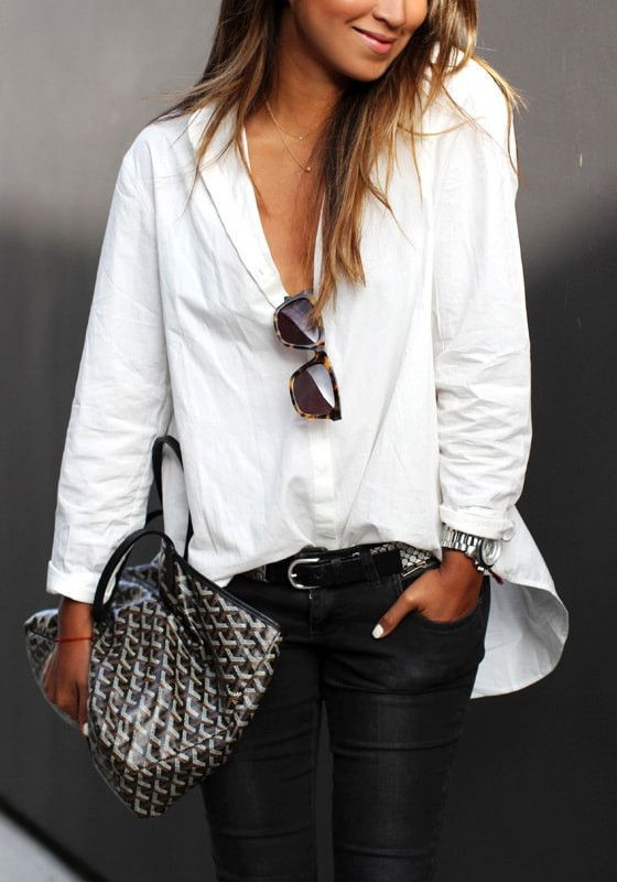 Best 25 high low shirt ideas on pinterest long shirt for Crisp white cotton shirt