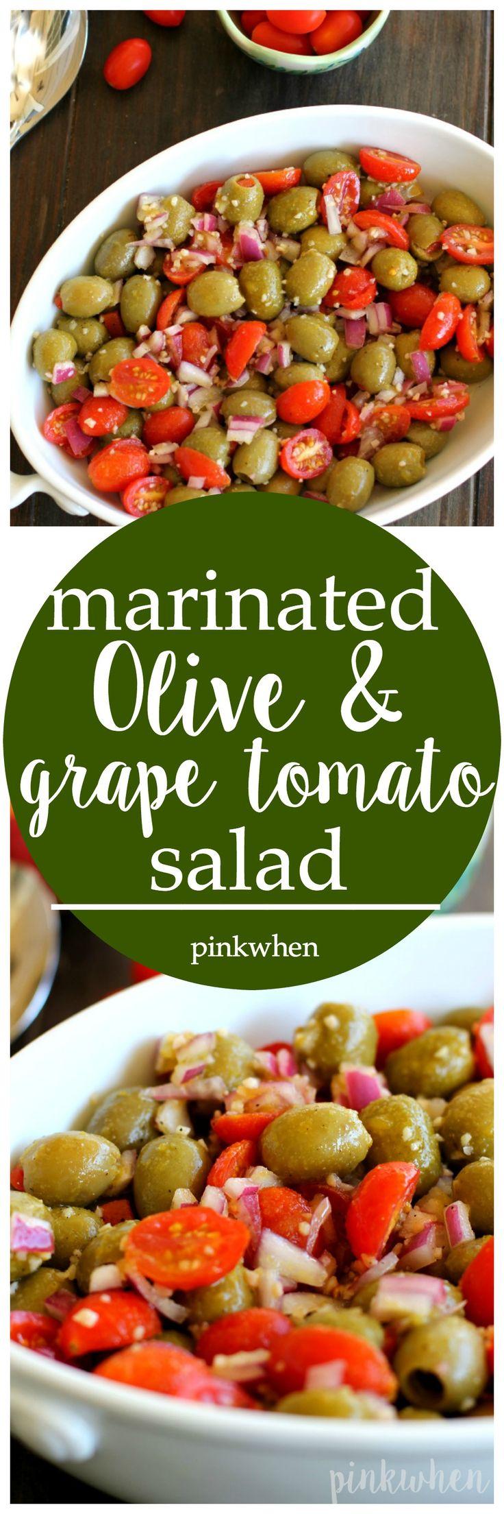 Marinated Olive and Grape Tomato Salad