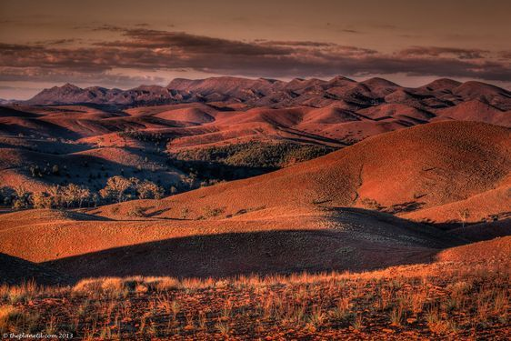 Evening in the Flinders Ranges